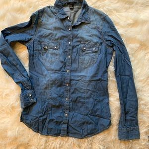 Denim Top- Medium Wash
